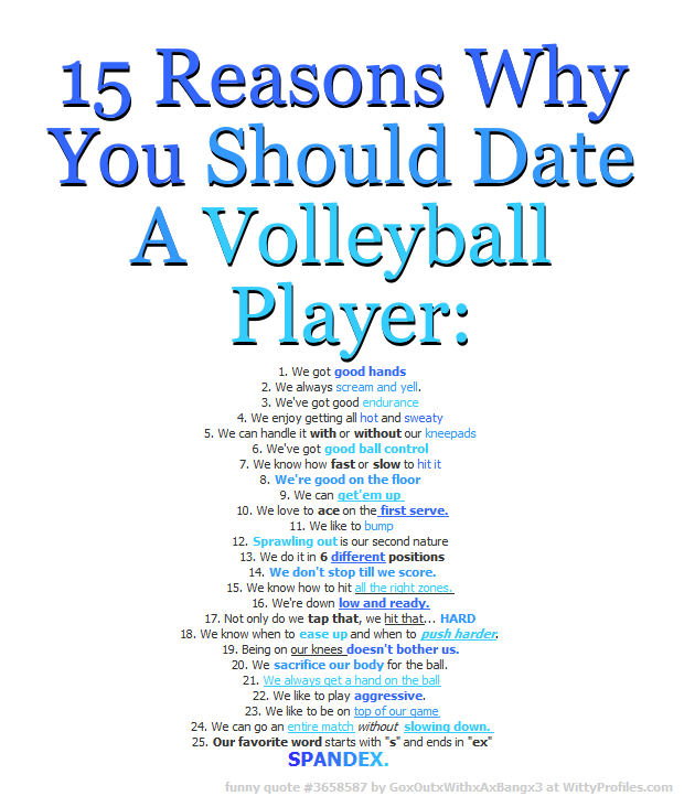 Dating volleyball players