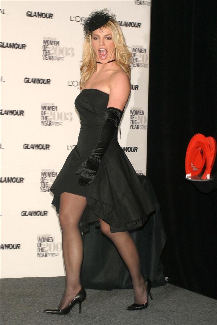 Britney black pantyhose
