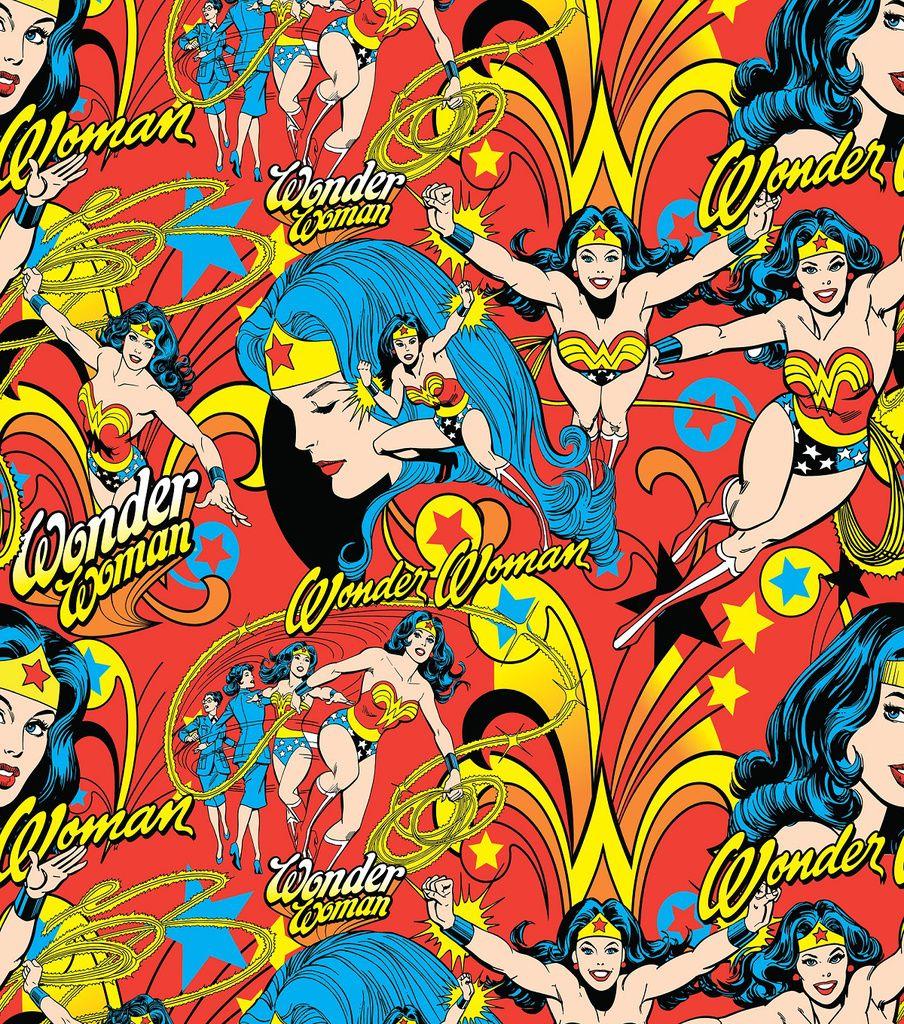 DC Comics Wonder Woman All Over Cotton Fabric Wonder