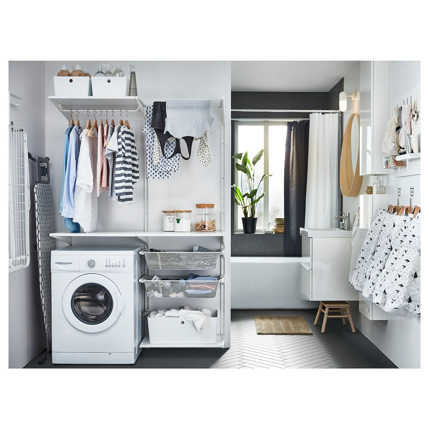 Ikea Algot Wandschiene Boden Waschehalter In 2020 Badezimmer Accessoires Badezimmer Wasche Waschraum