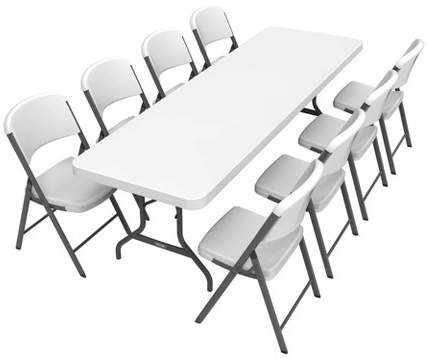 Folding Table With 8 Chairs White Lifetime Folding Table
