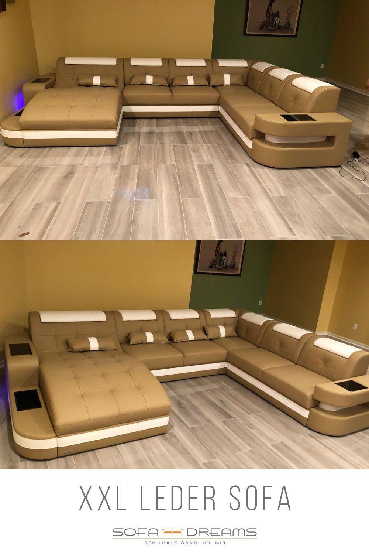 Xxl Wohnlandschaft Wave Leder Wohnlandschaft Xxl Möbel Luxus Couch