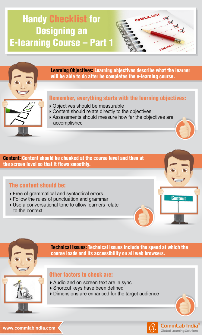 Handy Checklist for Designing an E-learning Course [Infographic]