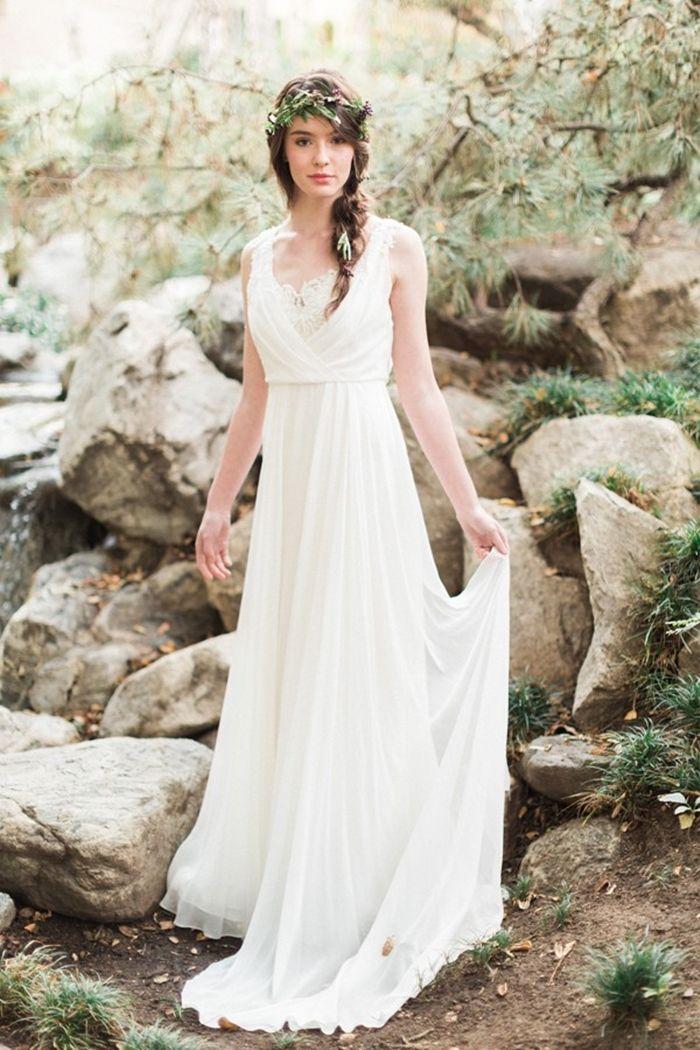 Abiti da sposa stile hippie chic | Chiffon wedding dress