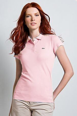 Brand New Authentic Factory Overrun Lacoste Women s Short Sleeve  Non-stretch Pique Polo Color  033d6f9ac745