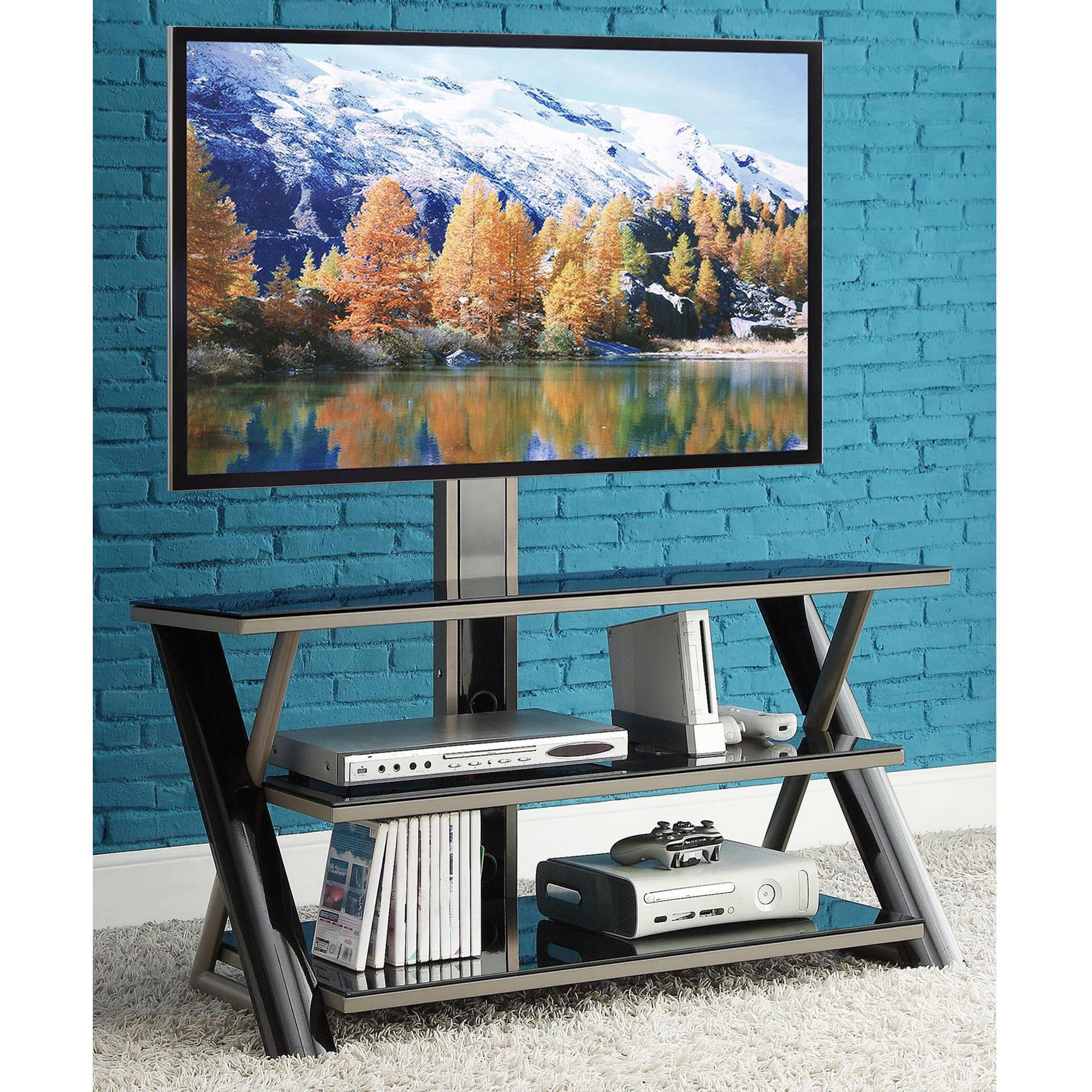 Whalen 3 In 1 Flat Panel Tv Stand For Tvs Up To 50 For The Home