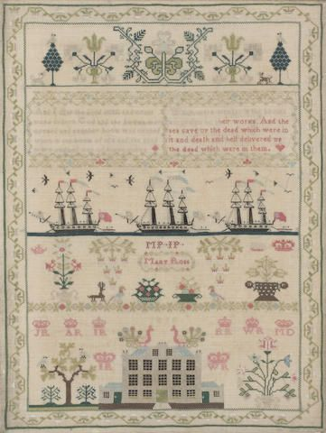 A 19th century sampler by Mary Ross (2)