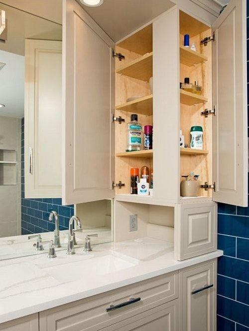 Pin By Allann Lim On Bathroom Ideas Bathroom Counter Storage Bathroom Vanity Storage Bathroom Storage Tower