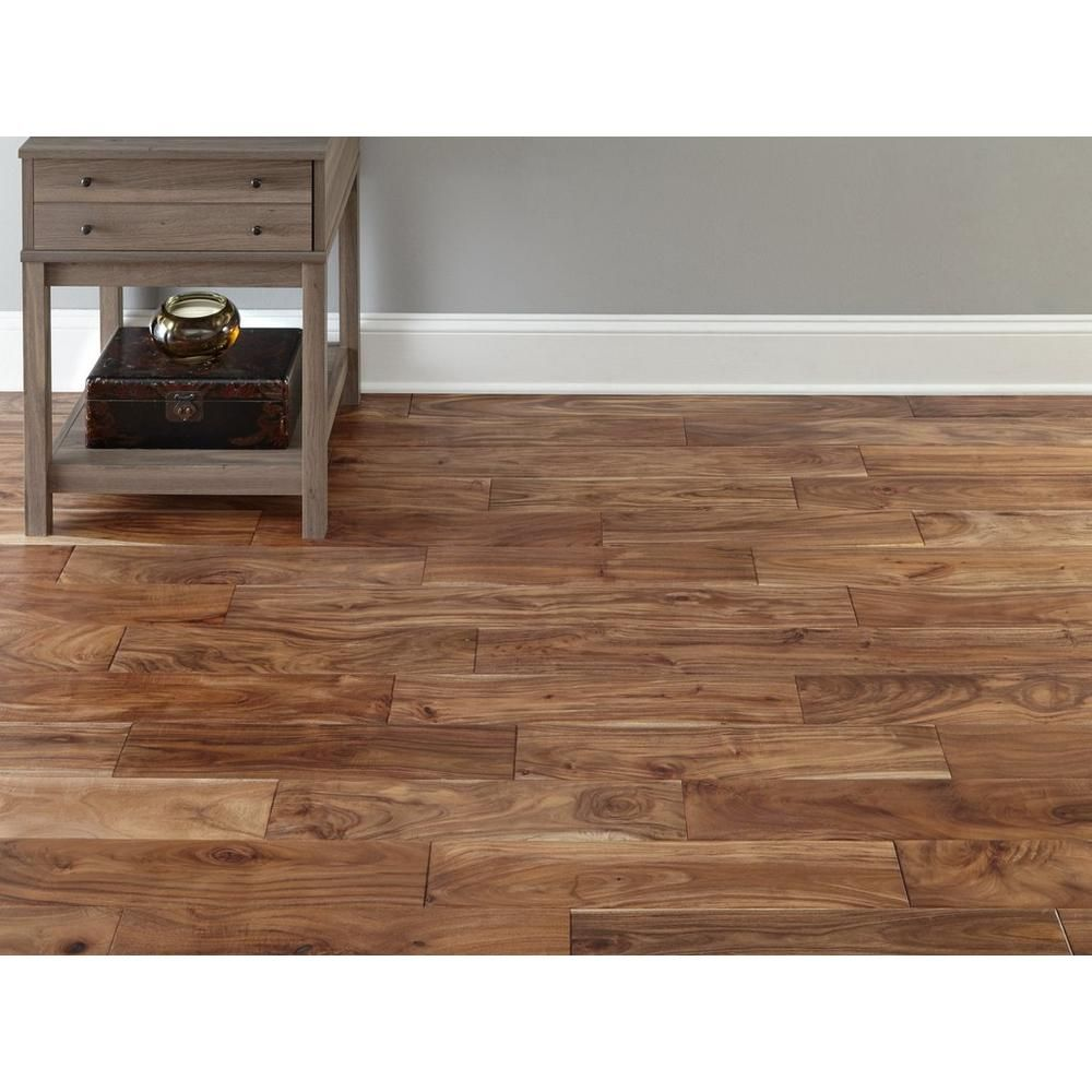 Tobacco Trail Acacia Hand Scraped Solid Hardwood Solid Hardwood