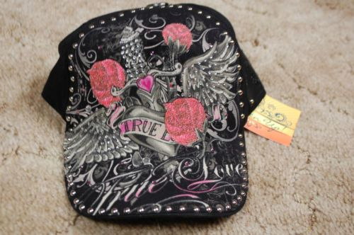 Womens Lighten Up Stephanie Head True Love Black Trucker Hat New | eBay