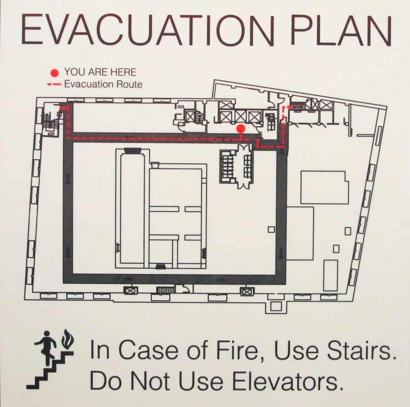 Sublimated Evacuation Map on Duck White Hardboard Matte Signage - evacuation plan template
