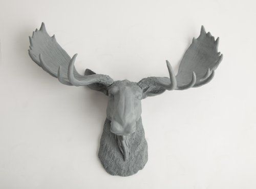Inexpensive Porcelain Moose Heads The Wellington Gray Ceramic Moose Head Moose Resin Grey White Faux Taxidermy Moose Head Wall Mount Moose Head