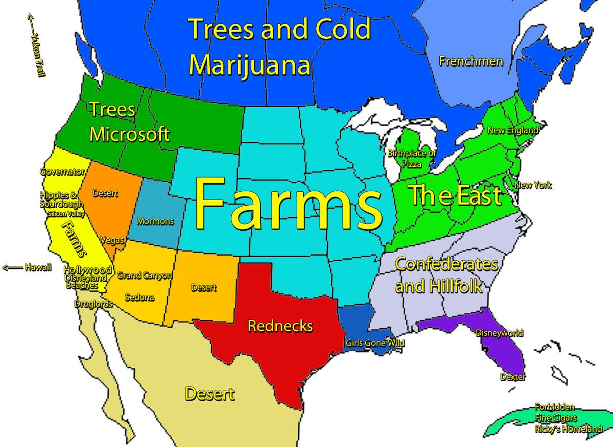 Funny US Maps  Hilariously Revealing Maps Of America Timecom A - Los angeles map funny