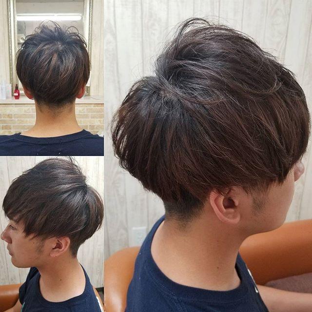 本日のお客様マッシュにさせていただきました実習頑張ってくださいね 鹿児島市 美容室 鹿児島市美容室 クレールフォーヘア Creer For Hair メンズカット メンズスタイル 実習頑張って