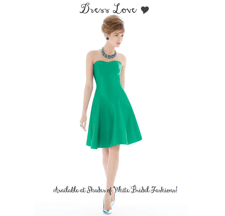 Green dress for wedding party  fit and flare strapless emerald green dress  Lookbook  Pinterest