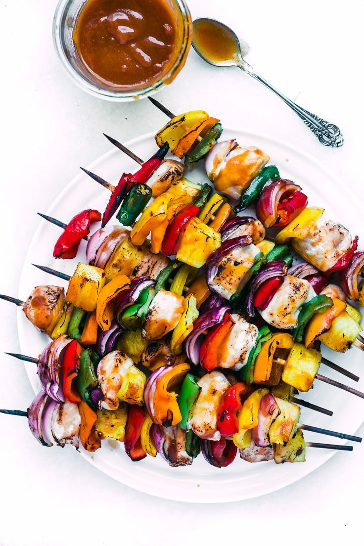 Chicken-Vegetable Kabobs with White BBQ Sauce Recipe - 0 ...