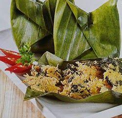 Botok Tempe Daun Singkong Tempe Makanan Resep Masakan Indonesia
