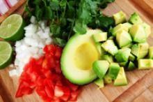 California Avocado Veggie Tacos Recipe :: Hass Avocado Recipes, Fresh Avocado Recipe