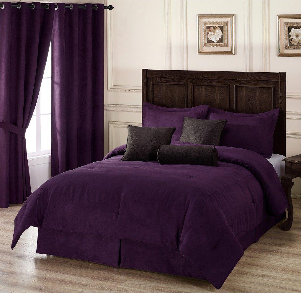 Chezmoi Collection 5pieces Purple Microsuede