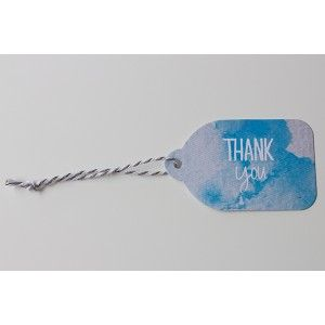Rachel Kennedy Designs - thank you gift tag - Water Colour Tags