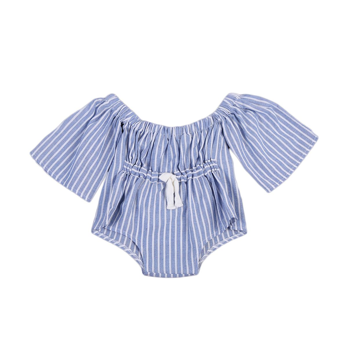518b1d0ff00c Click to Buy    Toddler Baby Kids Girl Striped Off-Shoulder Romper Jumpsuit  Clothes Sunsuit 0-4T  Affiliate. Helen115 Summer Newborn ...