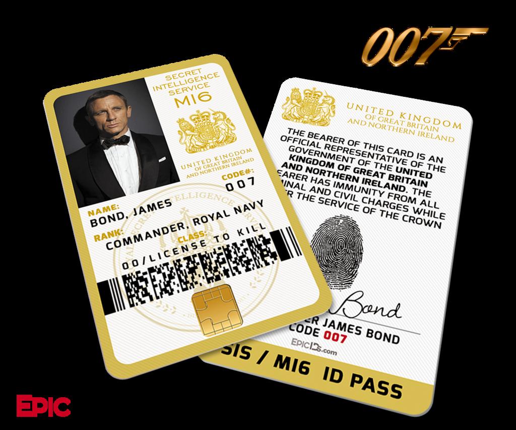 James Bond 007 Inspired Daniel Craig Secret Intelligence Service Id James Bond James Bond Movies James Bond Movie Posters