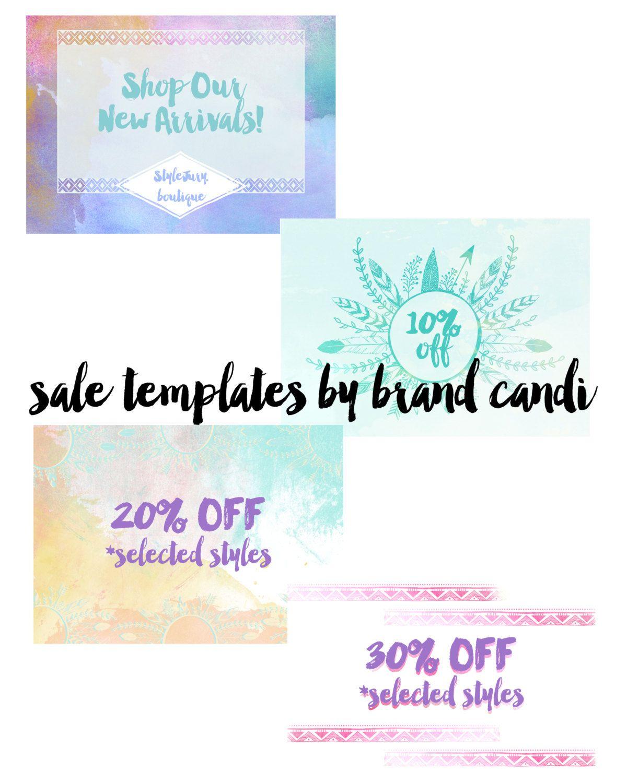 Custom Boutique Marketing Template - Fashion Boutique - Online Shop - Sale Ad - Fashion Logo - Boutique Marketing - Email Blast - Newsletter by BrandCandi on Etsy