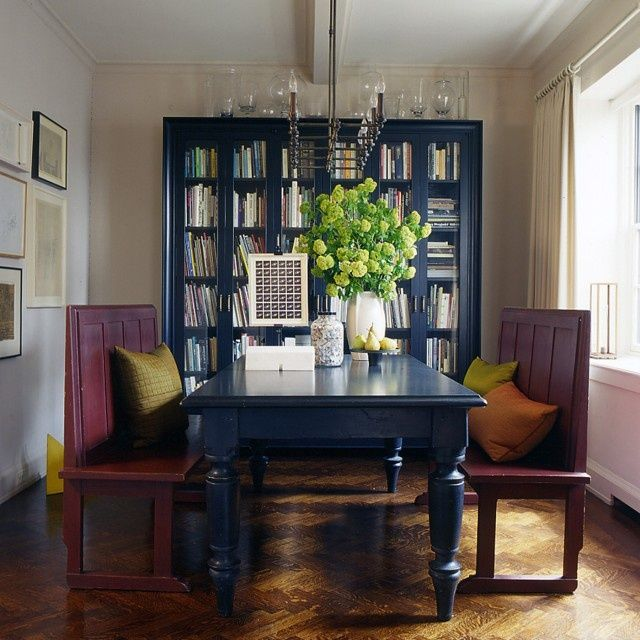 Navy Blue Painted Kitchen Table The Blue Bookcase Dining Table