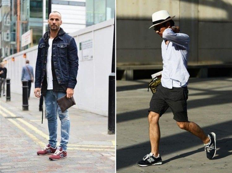 16 looks masculins portant des baskets New Balance 574 pour l' ...