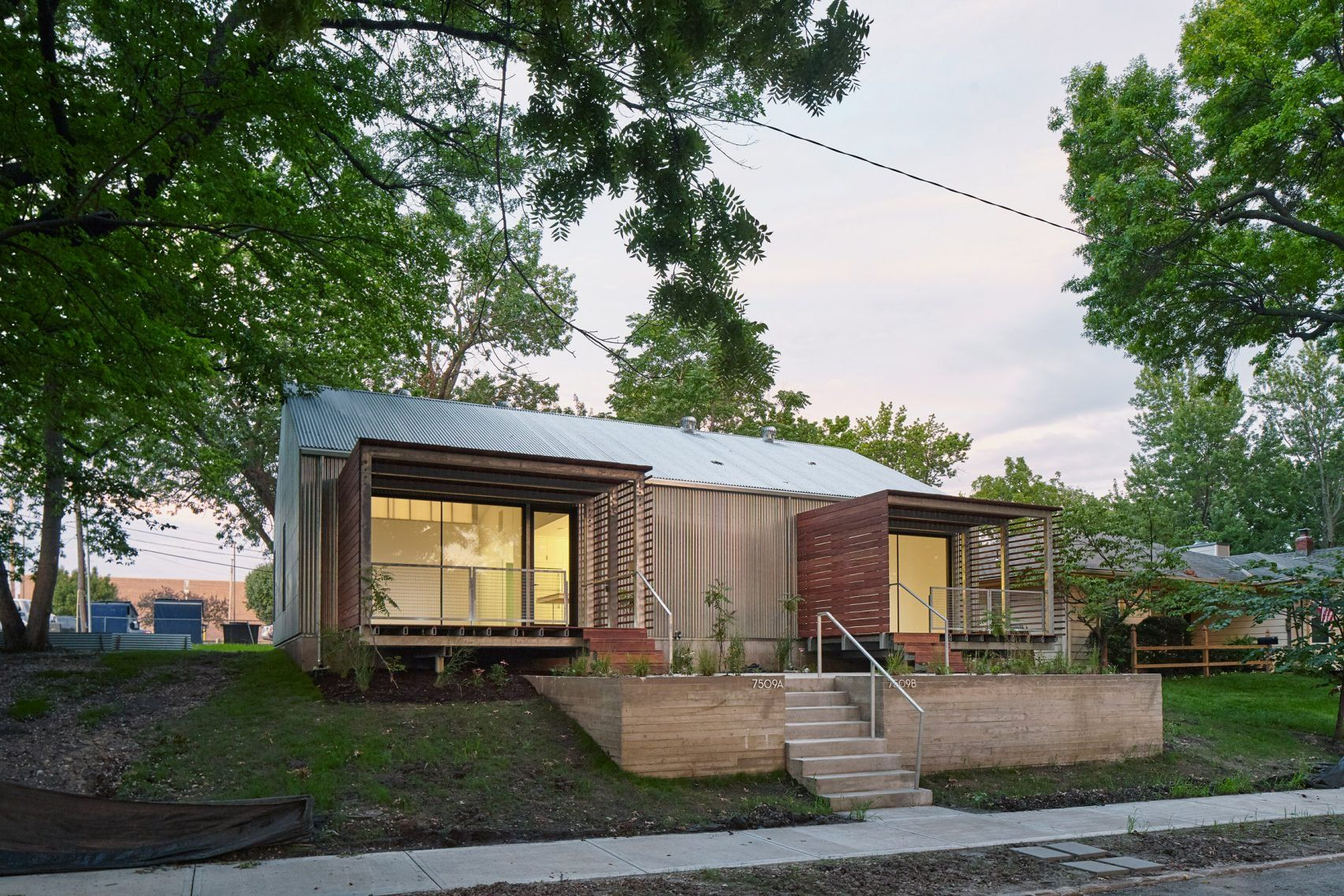 Architecture students build modern duplex for low income families curbedclockmenumore arrownoyes neat