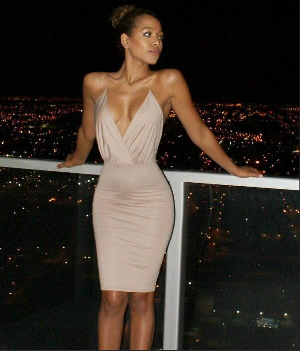 Super sexy Backless Package hip bandage dress low cut deep v neck Tight  Harness nightclub party dress Summer Bodycon vestidos-in Dresses from  Women s ... 5b924b4eb