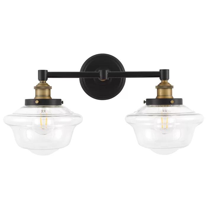 Hildred 2 Light Dimmable Vanity Light In 2020 Vanity Lighting Farmhouse Vanity Lights Vanity Light Shade