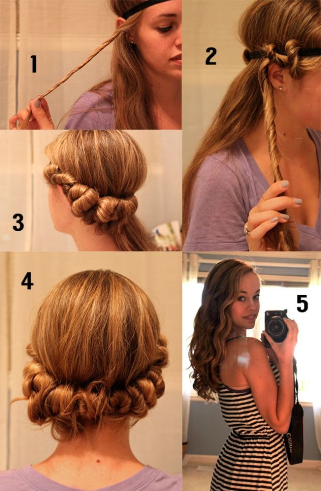 5 Easy Ways To Get Pretty Curls Without Heat Headband Curls Wavy Hair Overnight Curl Hair Overnight