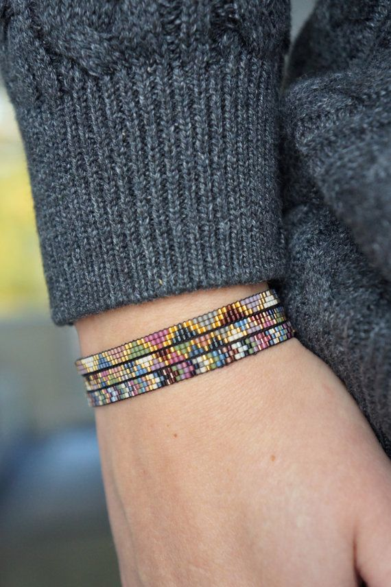 Handmade Miyuki beaded bracelet - Gold plated lobster clasp ...