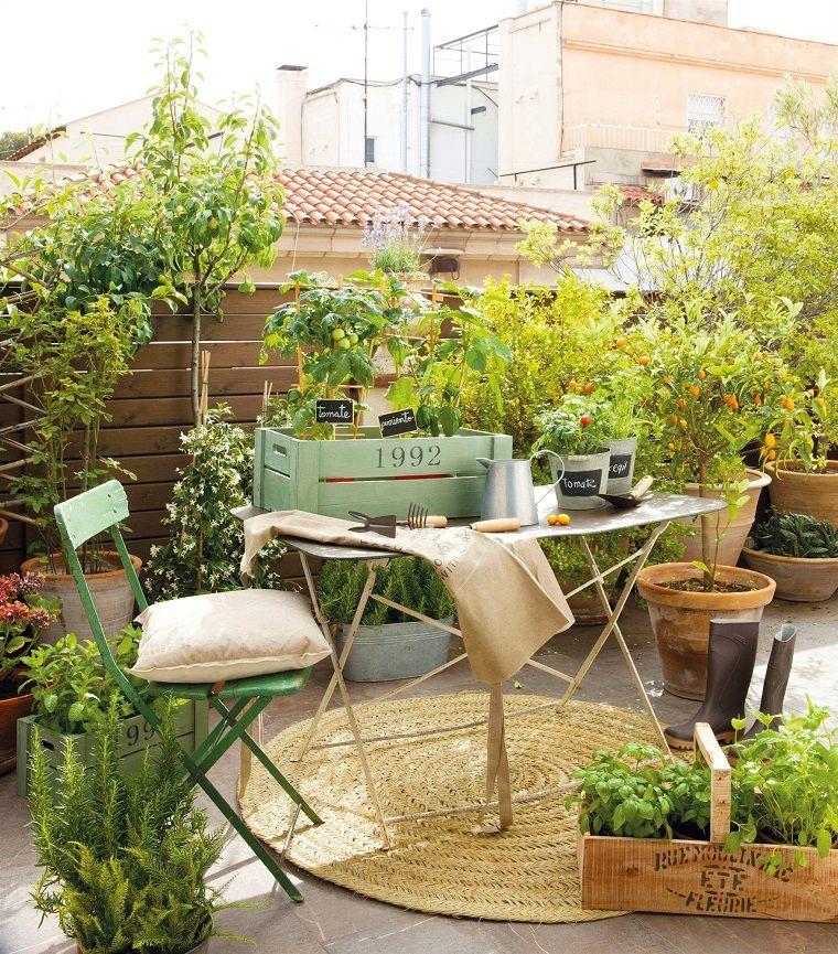 decorazioni-fai-da-te-terrazzo-piante-fiori | Giardino | Pinterest
