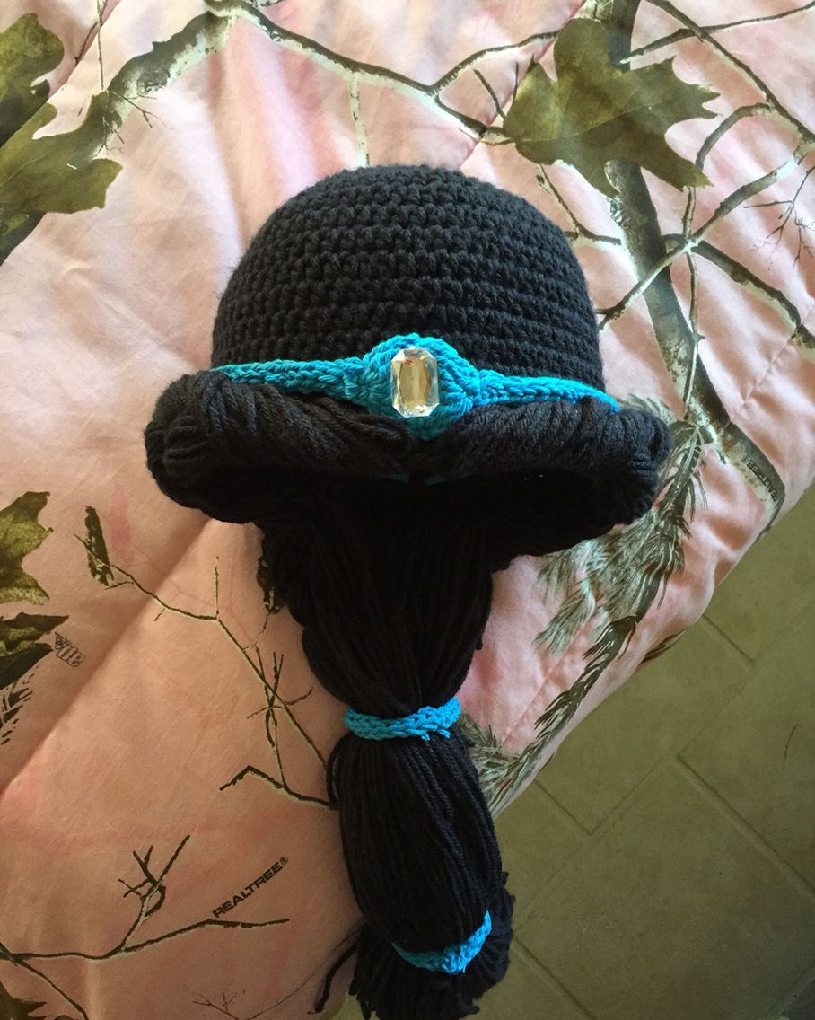 ff7af66c054 Princess Jasmine crochet hat. Disney Princesses