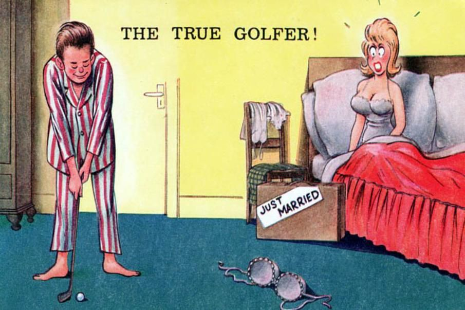 The True Golfer. To See All Our Comic Postcards With A Golf Theme, Visit
