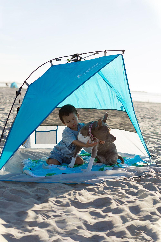 A Little Sun Shelter For Your Little Ones Beach Tent Dog Beach Soft Flooring