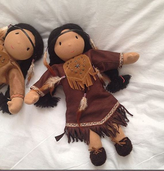 waldorf doll native american 42 cm 16 17 inch with by. Black Bedroom Furniture Sets. Home Design Ideas