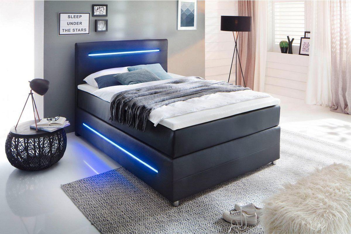 Boxspringbett Mit Led Beleuchtung Wahlweise Mit Bettkasten Haus Deko