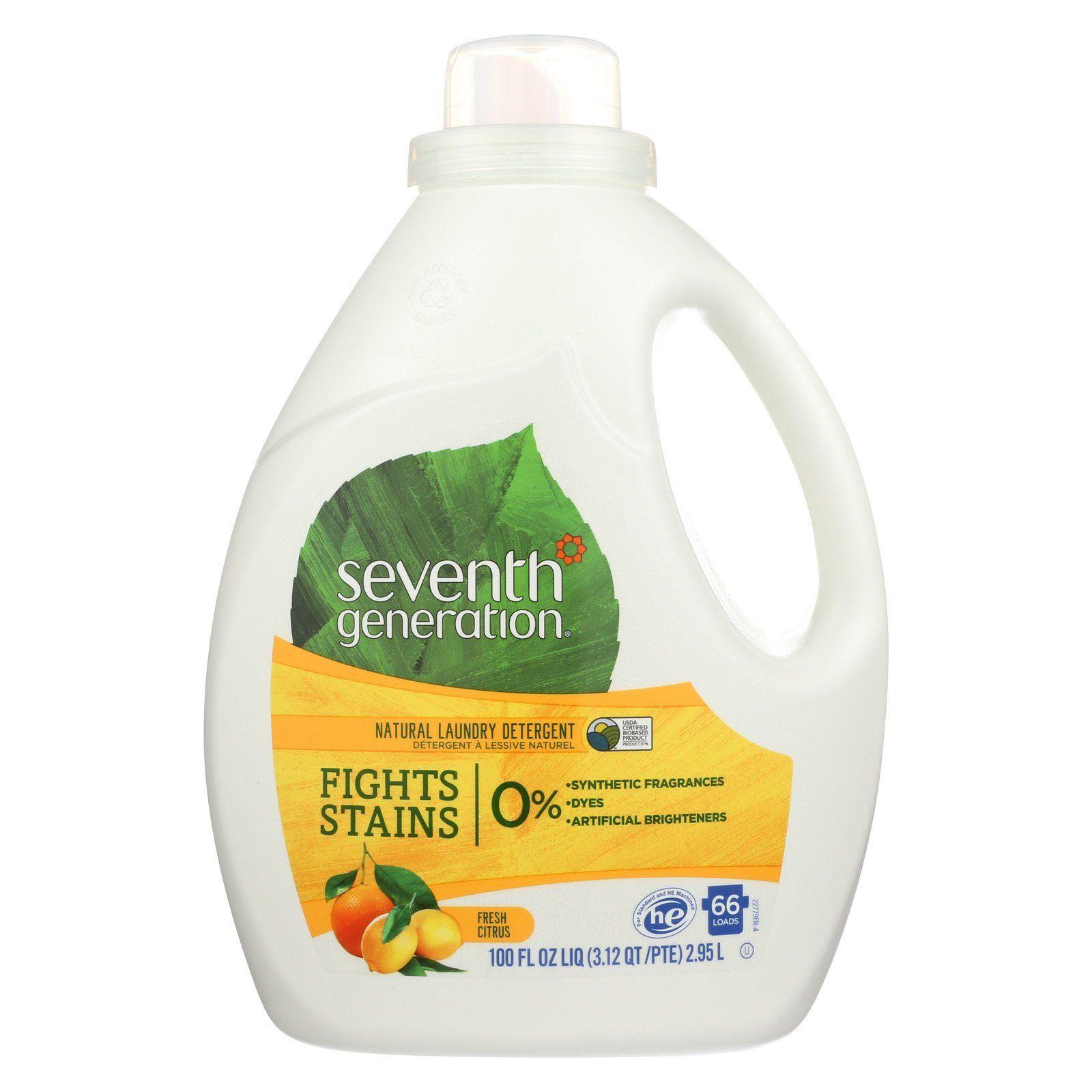 Seventh Generation Natural Laundry Detergent Fresh Citrus Case