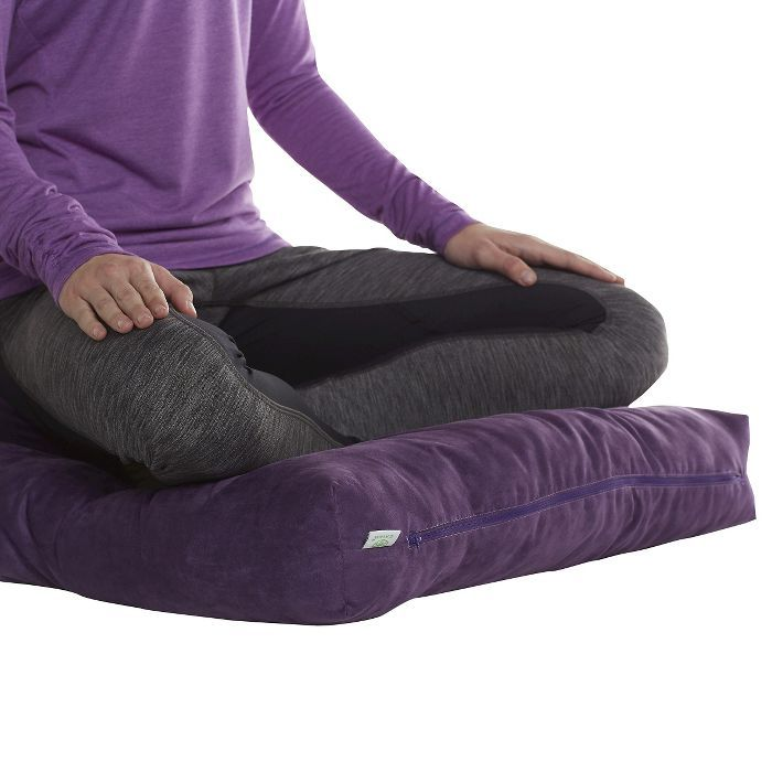 Gaiam Zabuton Floor Cushion Purple Target In 2020 Meditation Cushion Floor Cushions Cushions