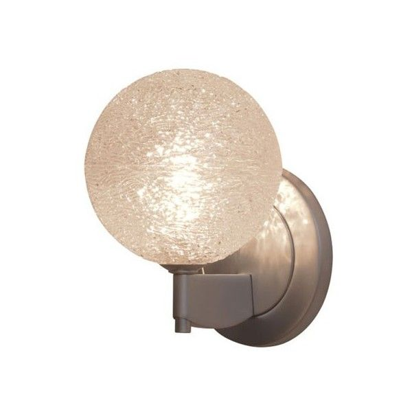 Bruck Lighting Dazzle I Wall Sconce featuring polyvore, home, lighting, wall lights, black globe, wall mounted lights, sphere lamp, black sconces and diamond lighting