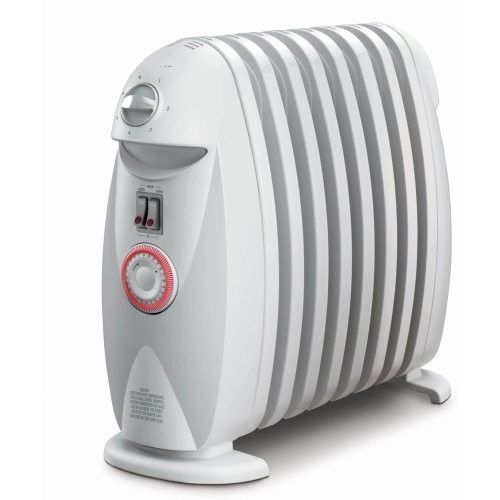 Electric Space Heater Portable Oil Filled Radiator Personal Room Warmth W Timer Oil Filled Radiator Portable Heater Space Heater
