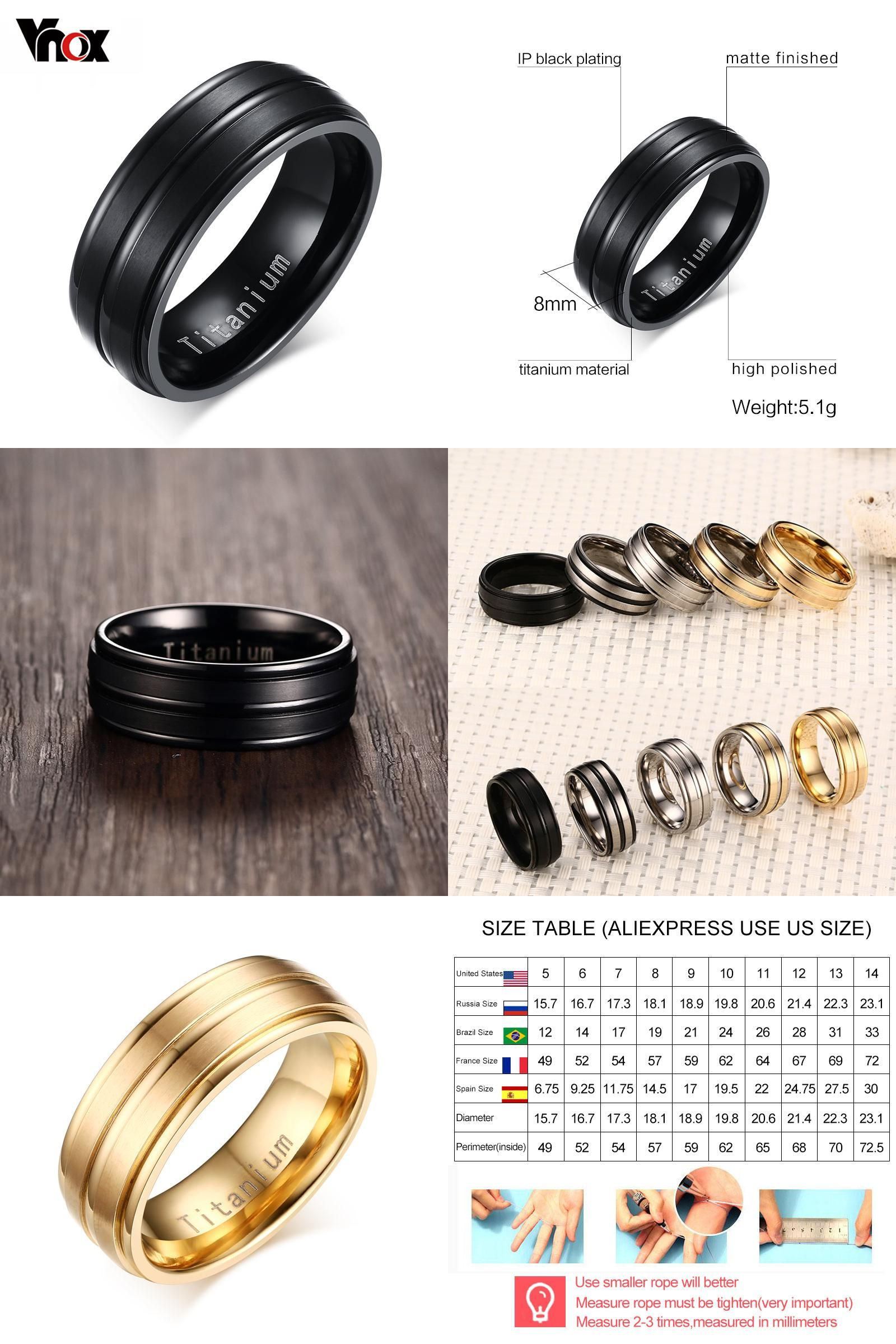 Fresh Black Lord Of the Rings Wedding Band