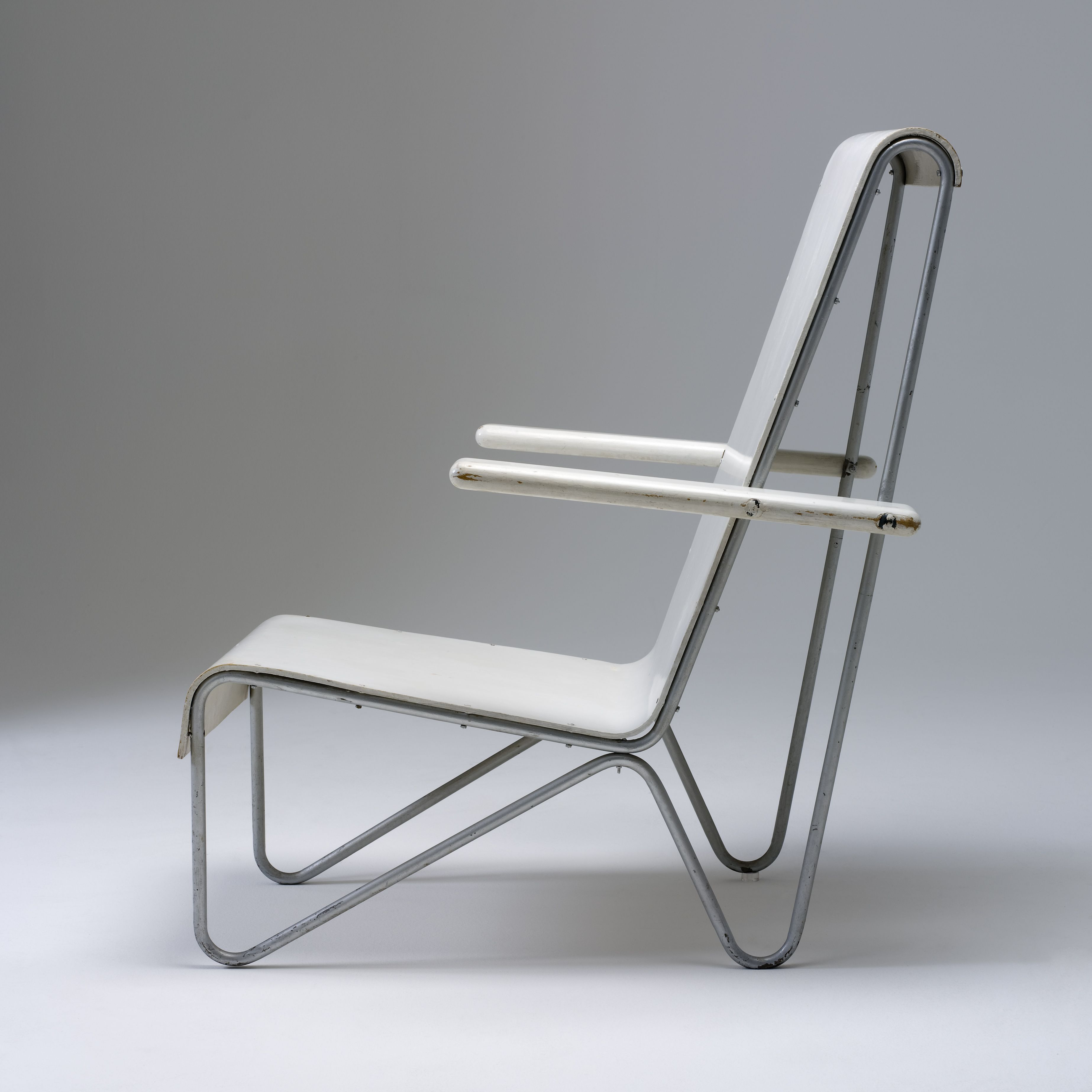 Armchair designed by Gerrit Rietveld and made in Amsterdam