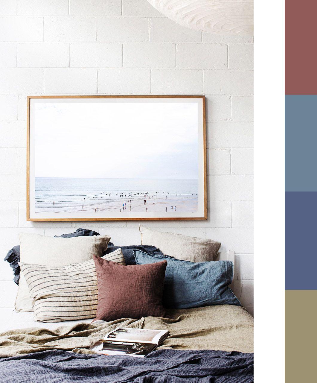 bedroom colour palettes - bedroom linen ideas - autumn bedroom inspiration #bedroom #colours #palette
