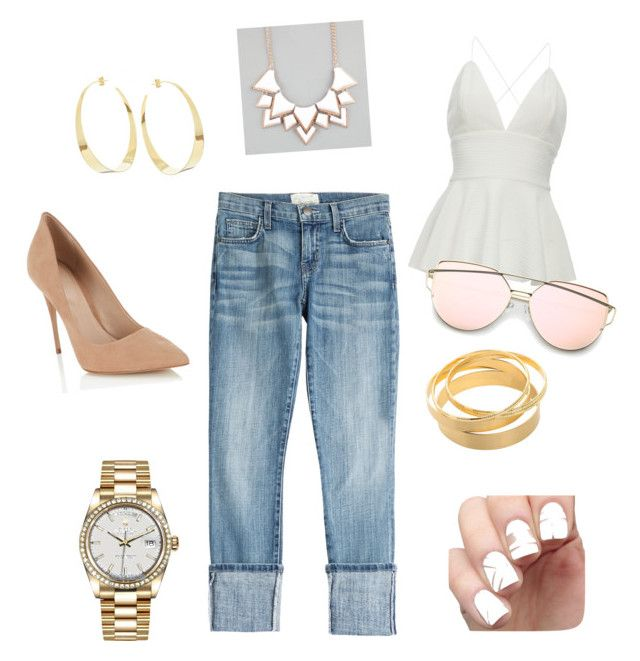 """""""summer"""" by anabelly-ore on Polyvore featuring Current/Elliott, Lana, Full Tilt, Rolex and Lipsy"""