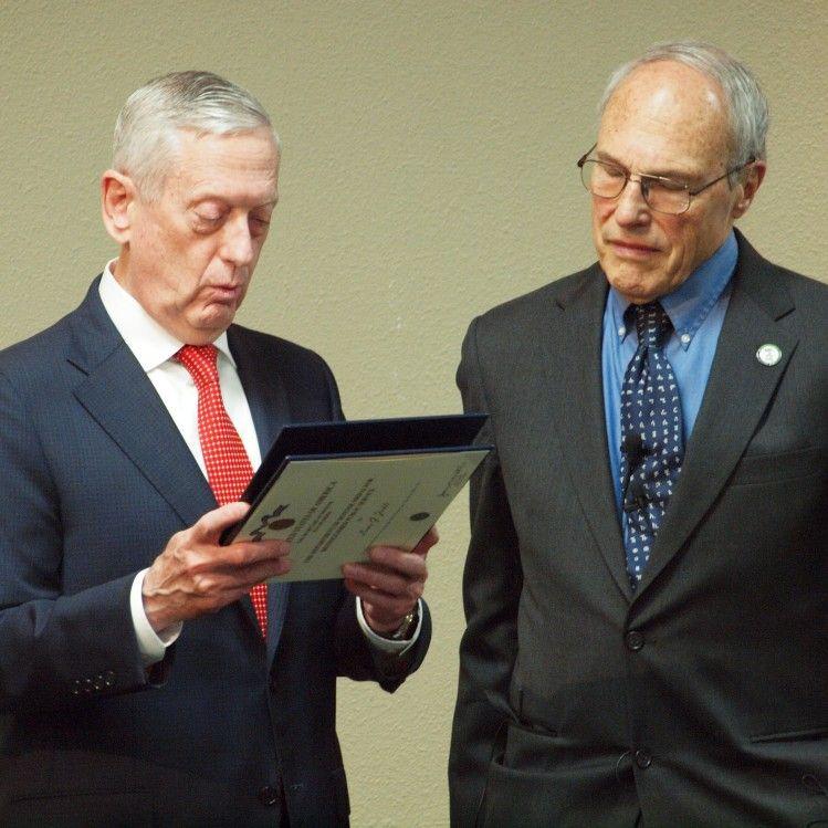 US Secretary of Defense General James Mattis paid a visit