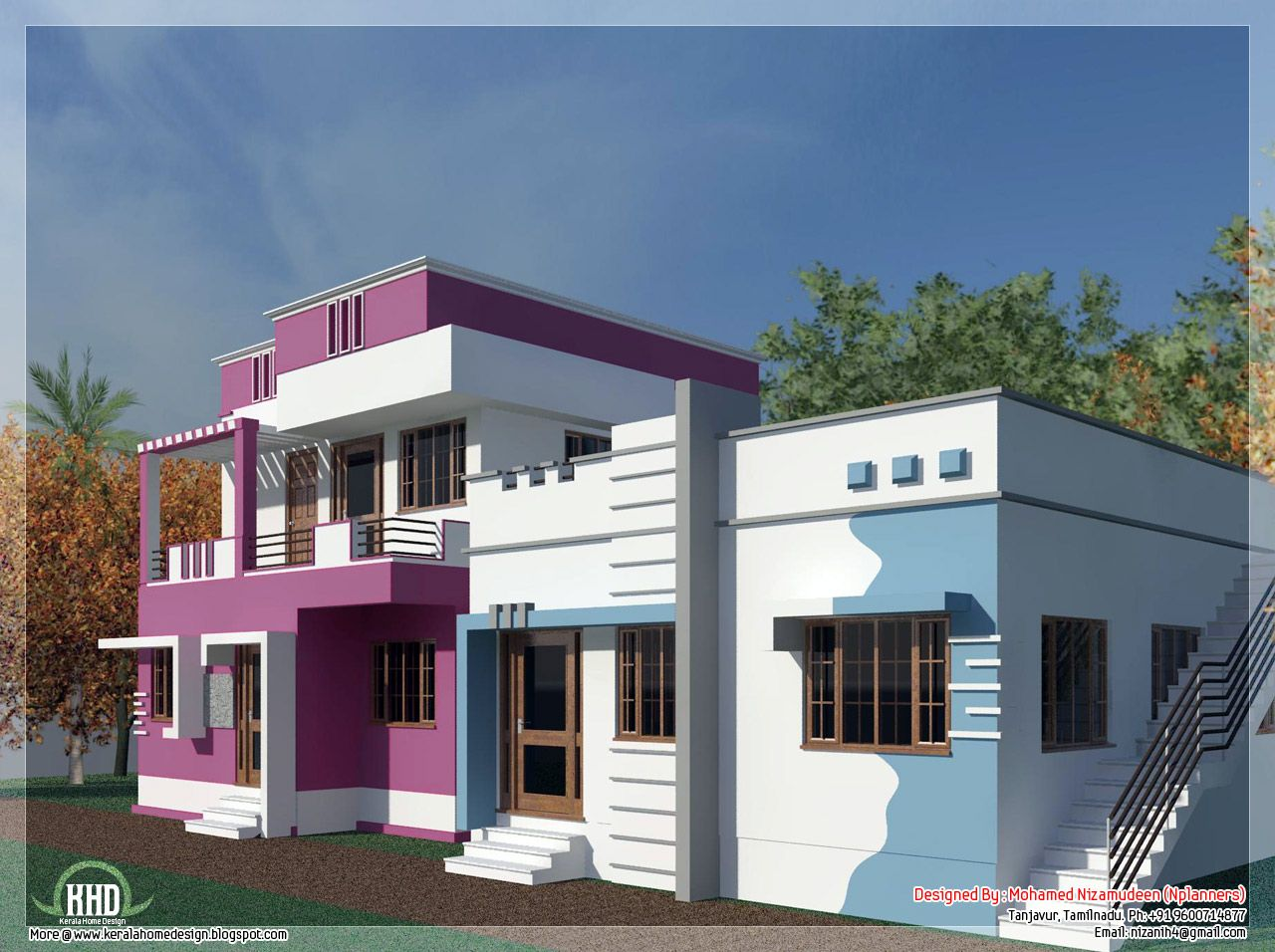 Tamilnadu model home design in 3000 sq.feet | Smallest house ...